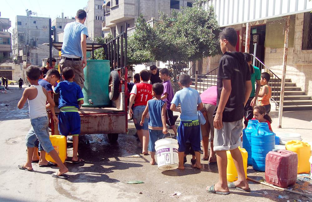 Vízvétel Gázában
